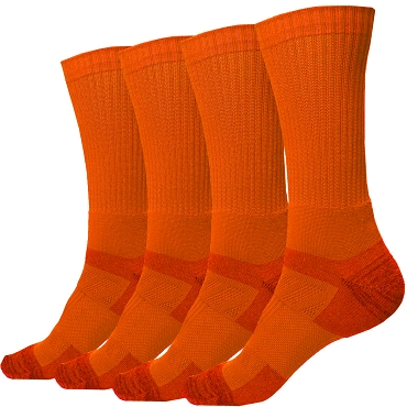 Orange Crew Socks - 2 Pairs